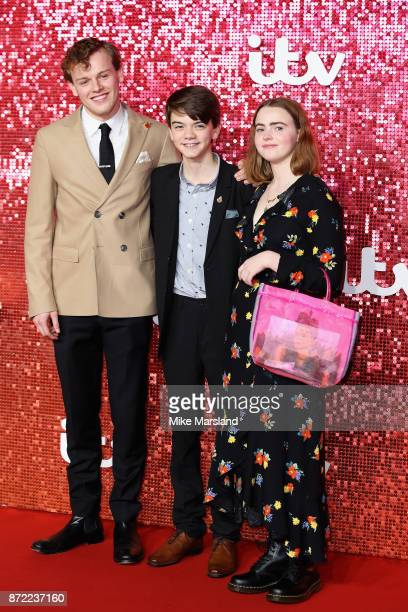 Callum Woodhouse Milo Parker and Daisy Waterstone arrive at the ITV Gala held at the London Palladium on November 9 2017 in London England