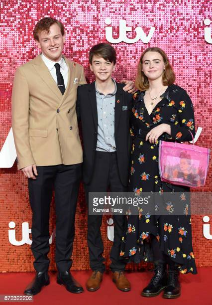 Callum Woodhouse Milo Parker and Daisy Waterstone attend the ITV Gala at the London Palladium on November 9 2017 in London England