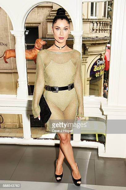 """Cally Jane Beech attends a special screening of """"War Dogs"""" at Picturehouse Central on August 11, 2016 in London, England."""