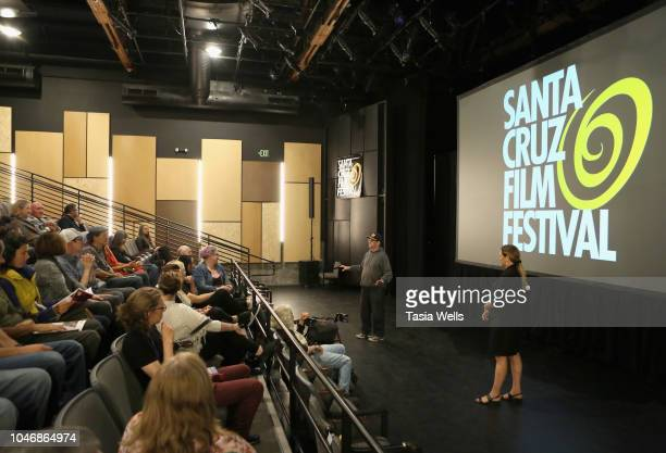 ''Calm Beforethe Rising Storm' filmmaker and Santa Cruz Film Festival director Catherine Segurson speak onstage during the 2018 Santa Cruz Film...