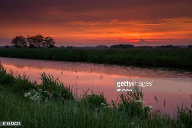 Calm canal at dusk