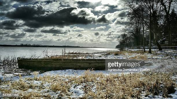 calm countryside lake against the sky - {{relatedsearchurl('london eye')}} stock photos and pictures