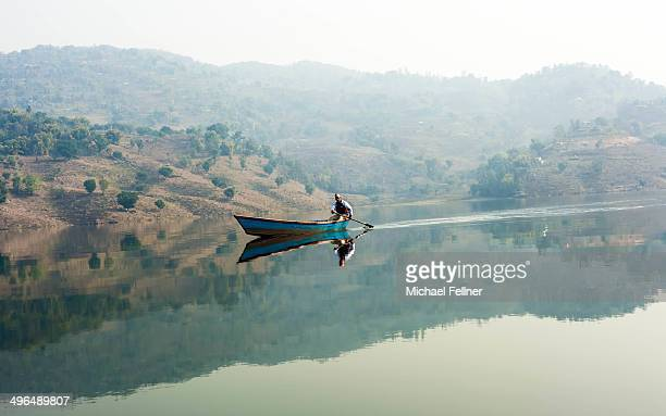 Calm Lake Begnas in the morning - Pokhara - Nepal