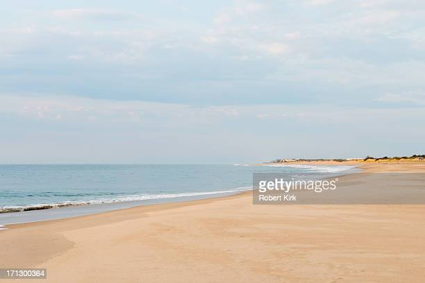 calm seas in bethany beach, delaware - bethany beach stock photos and pictures