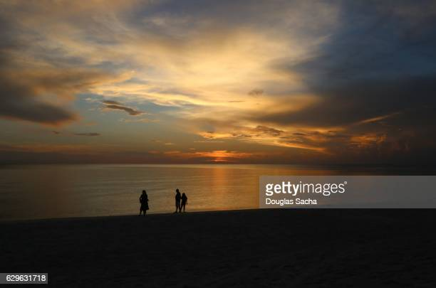 Calm Sunset over the ocean, Clam Pass Park, Naples, Florida, USA