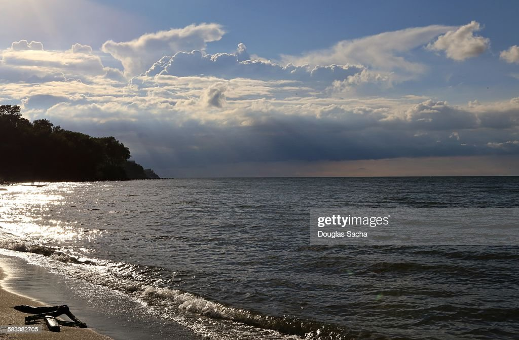 Calm water on the shore : Stock Photo