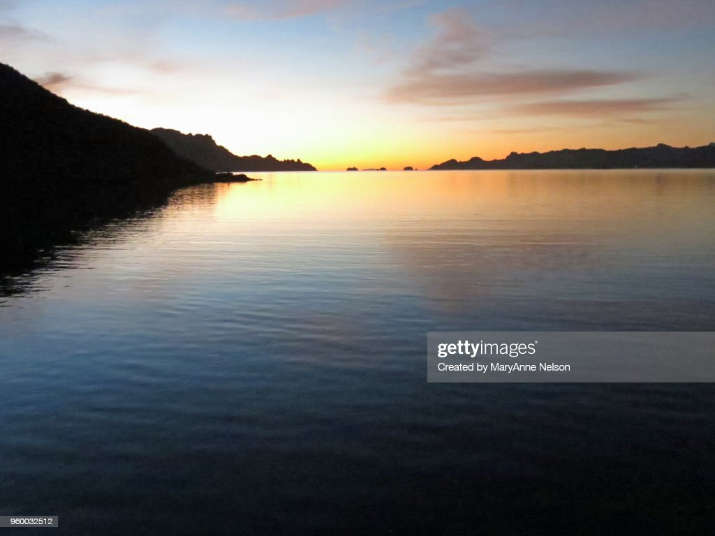Calm Water with Sunrise colors : Stock-Foto