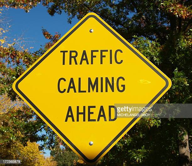 calming sign - road rage stock pictures, royalty-free photos & images