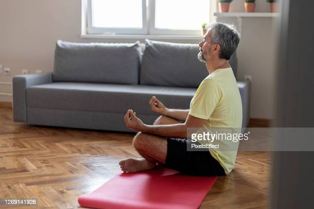 calmness and relax - good posture stock pictures, royalty-free photos & images