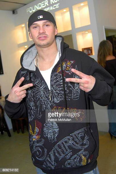 Calmplex attends Olympic Artist Jesse Raudales Peace for the Children Art Show at Los Angeles on February 9 2007