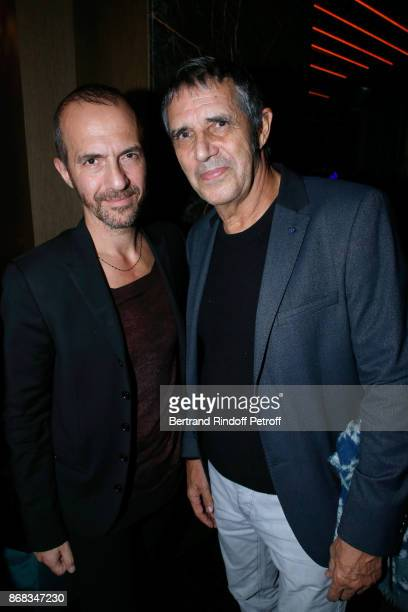 Calogero and Julien Clerc attend Claude Lelouch celebrates his 80th Birthday at Restaurant Victoria on October 30 2017 in Paris France