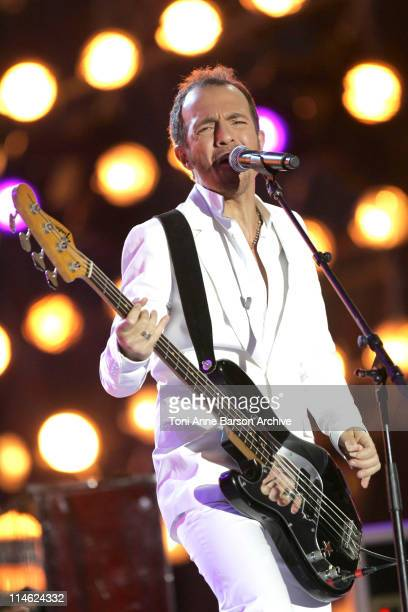 Calogero during 'Fete de la Musique' Live on 'France 2' NRJ at Hippodrome D'Auteuil in Paris France