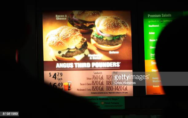 Calories are listed next to menu items in a McDonald's restaurant July 18 2008 in New York City New York is now the first city in the country to...