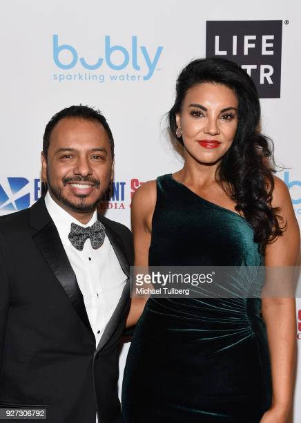 Calos Moreno Jr. And Tilda del Toro attend Byron Allen's Oscar Gala Viewing Party To Support The Children's Hospital Los Angeles at the Beverly...