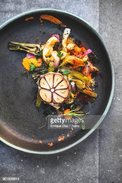 Calçots and Garlic, vertical