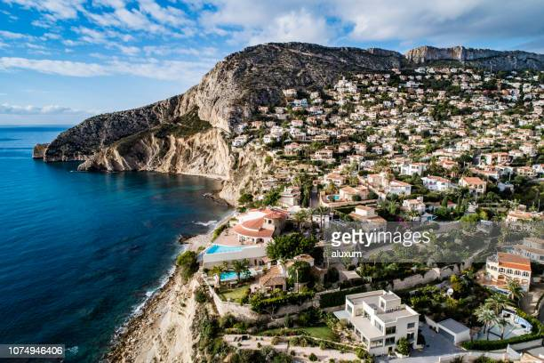 calp alicante spain - calpe stock pictures, royalty-free photos & images