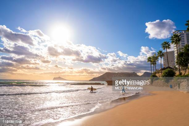 calpe calp cantal roig beach of alicante - alicante stock pictures, royalty-free photos & images
