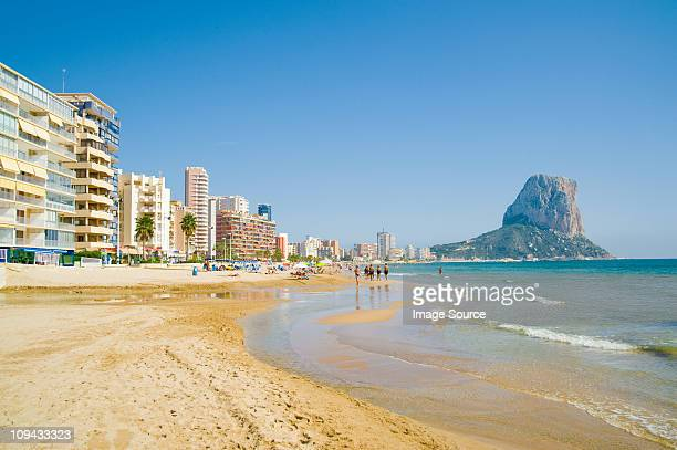 calpe, costa blanca, spain - calpe stock pictures, royalty-free photos & images