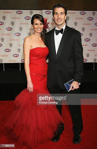 Calrton great Stephen Silvagni and his wife Jo Silvagni arrive for the 2006 AFL Brownlow Medal Dinner at Crown Casino September 25 2006 in Melbourne...