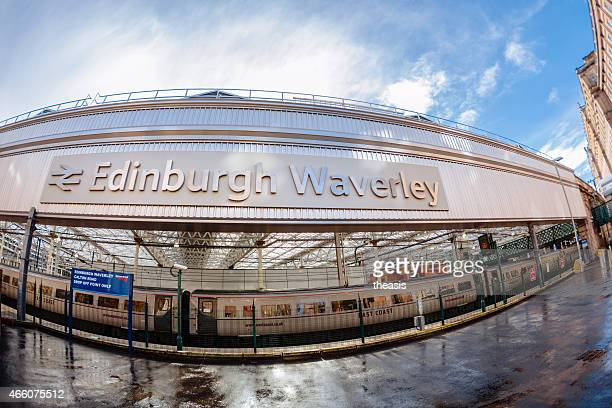 calton road entrance to waverley train station, edinburgh - theasis stock pictures, royalty-free photos & images