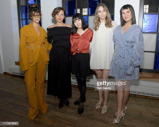 Calu Rivero Maggie Gyllenhaal Designer Hanako Maeda Suki Waterhouse and Zoë Chao attend the Adeam Spring/Summer 2020 Show at West Edge on September...