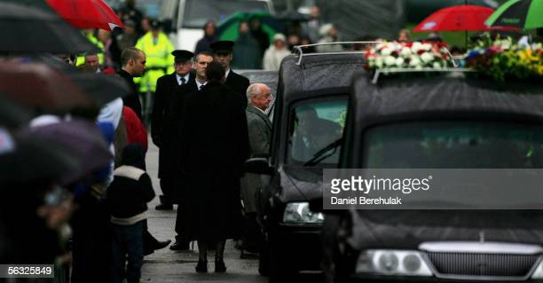 Calum Best and Dickie Best join the funeral cortege for footballer George Best from the private service held at his family home on the Cregagh Estate...