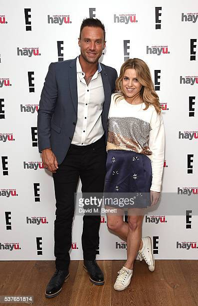 Calum Best and Olivia Cox attend the launch of new US celebrity dating show 'Famously Single' featuring Calum Best on June 2 2016 in London England...