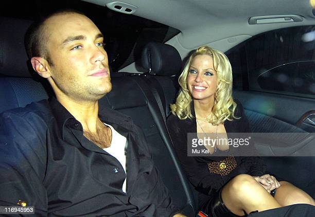 Calum Best and Sarah Harding from Girls Aloud during Calum Best and Sarah Harding Sighting at Kilo Kitchen Bar in London December 8 2005 in London...