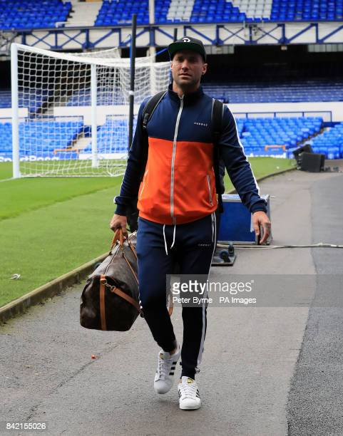 Calum Best arrives for the Bradley Lowery charity match at Goodison Park Liverpool PRESS ASSOCIATION Photo Picture date Sunday September 3 2017 See...