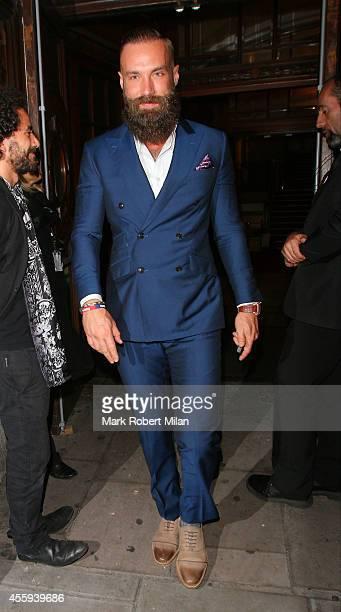 Calum Best attending the Reality TV awards on September 22 2014 in London England