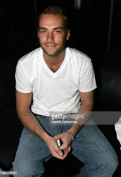 Calum Best attends the catwalk show for the Gridmodels 2006 Calendar Catwalk Competition at The Penthouse on August 24 2005 in London England The...