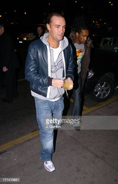 Calum Best during Billy Zane's Birthday Party at Shepherds Bush Empire in London Great Britain