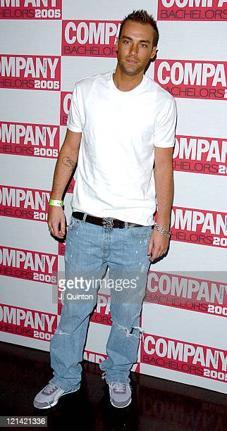 Calum Best during Company Magazine's Bachelor of the Year Awards 2005 Arrivals Press Room at KOKO in London Great Britain