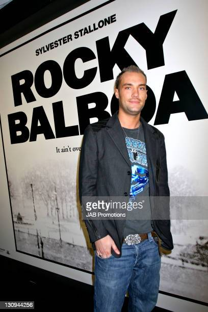 Calum Best during 'Rocky Balboa' London Premiere Inside Arrivals at Vue in London Great Britain
