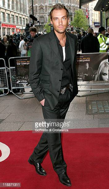 Calum Best during The Interpreter London Premiere Arrivals at Leicester Square in London Great Britain