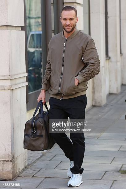 Calum Best seen leaving BBC Radio 2 on April 2 2015 in London England