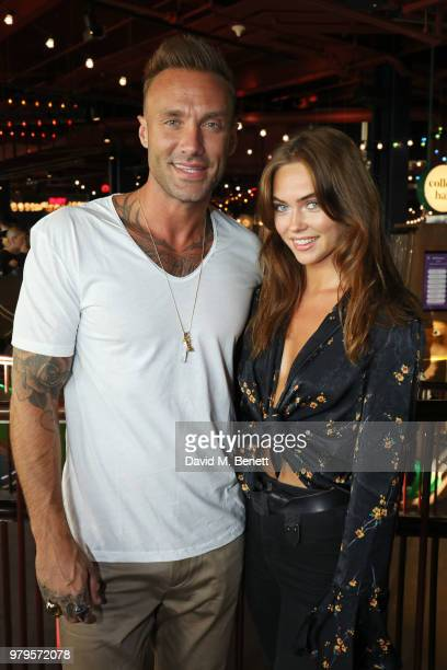 Calum Best with guest attend the VIP launch of Puttshack in West London celebrating a 'hole' new night out on June 20 2018 in London England