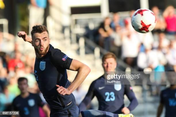Calum Chambers during the UEFA U-21 European Championship Group A football match Slovakia vs England in Kielce, Poland on June 19, 2017.