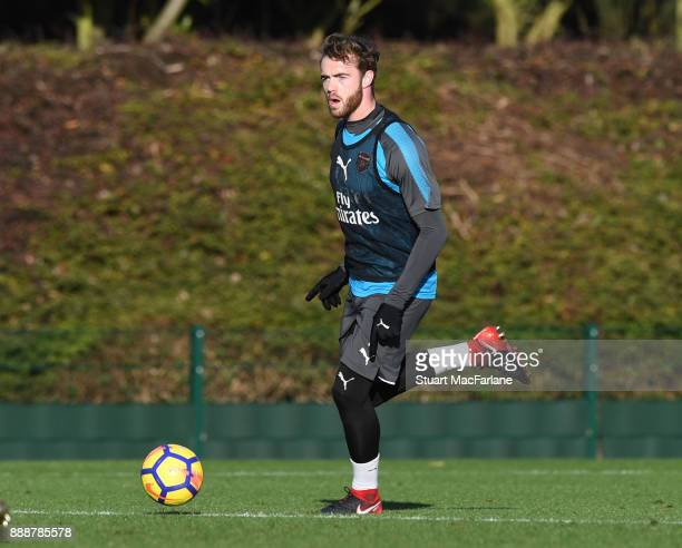 Calum Chambers of Arsenal during a training session at London Colney on December 9 2017 in St Albans England