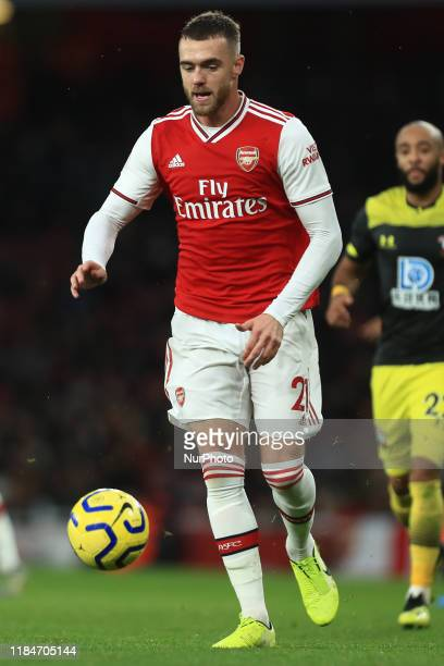 Calum Chambers of Arsenal during the Premier League match between Arsenal and Southampton at the Emirates Stadium, London on Saturday 23rd November...