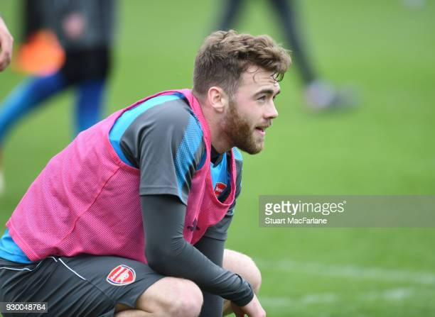 Calum Chambers of Arsenal during training at London Colney on March 10 2018 in St Albans England