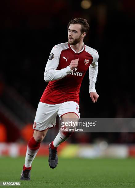 Calum Chambers of Arsenal in action during the UEFA Europa League group H match between Arsenal FC and BATE Borisov at Emirates Stadium on December 7...