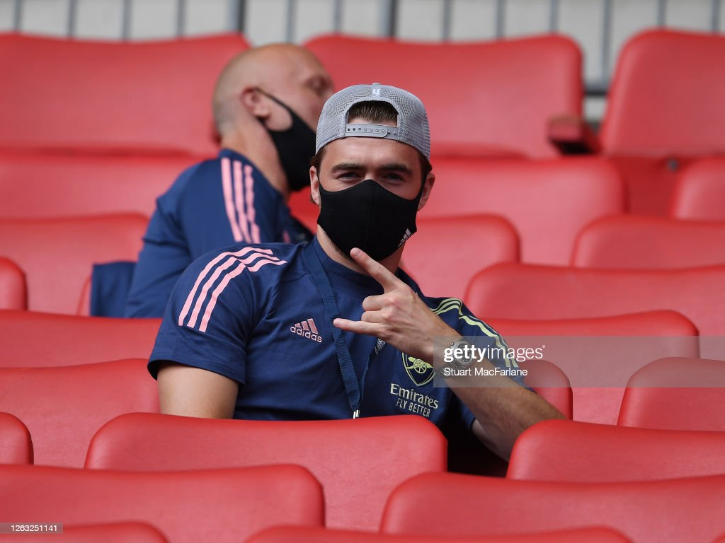 calum-chambers-of-arsenal-poses-for-a-photo-from-the-stands-before-picture-id1263251141