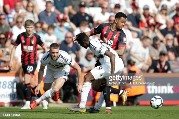 Calum Chambers of Bournemouth and AndreFrank Zambo Anguissa of Fulham during the Premier League match between AFC Bournemouth and Fulham FC at...