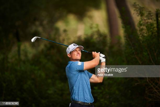 Calum Hill of Scotland in action during the Pro am draw prior to the Challenge Tour Grand Final at Club de Golf Alcanada on November 06 2019 in...