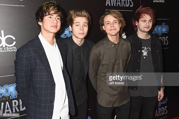 Calum Hood Luke Hemmings Ashton Irwin and Michael Clifford of music group 5 Seconds of Summer attend the PEOPLE Magazine Awards at The Beverly Hilton...