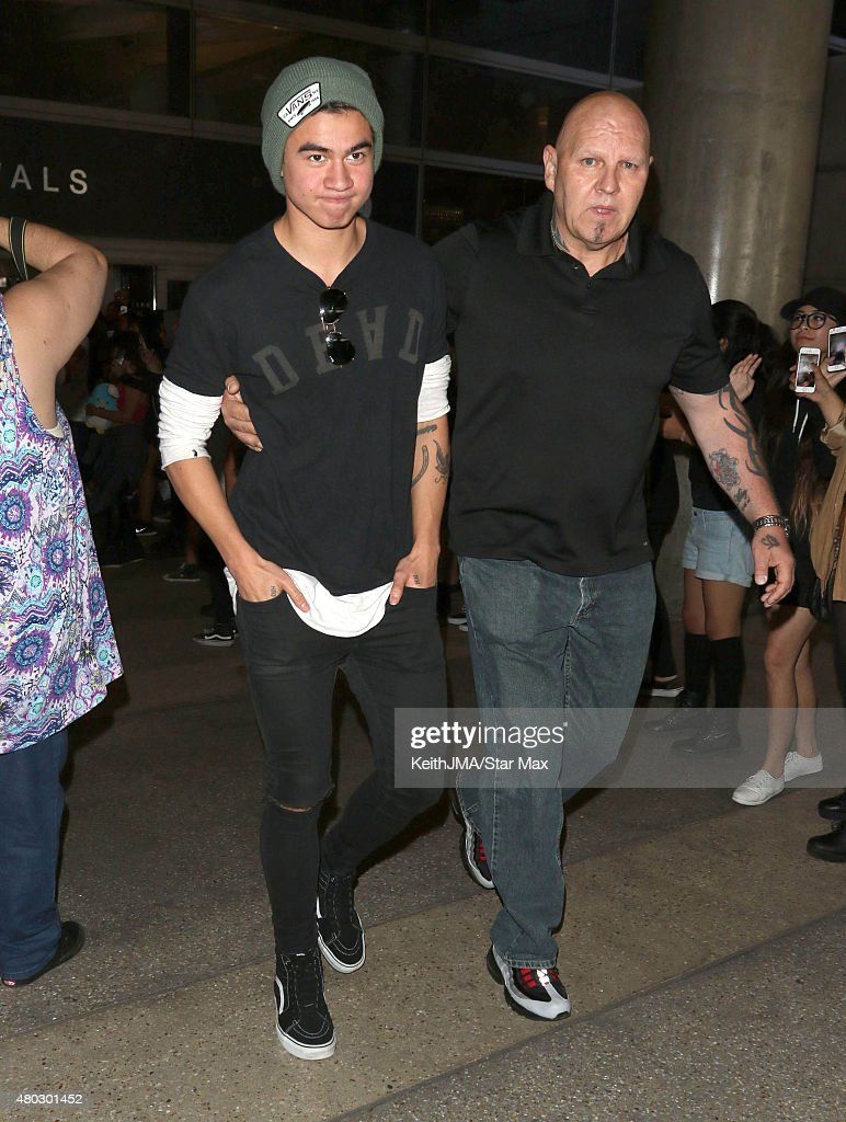 Calum Hood of 5 Seconds of Summer are seen on July 10, 2015 in Los Angeles, California.