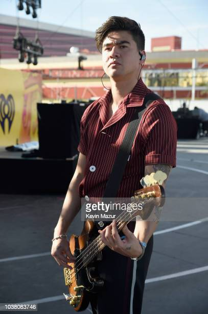 Calum Hood of 5 Seconds of Summer performs onstage during the 2018 iHeartRadio Music Festival Daytime Stage at the Las Vegas Festival Grounds on...