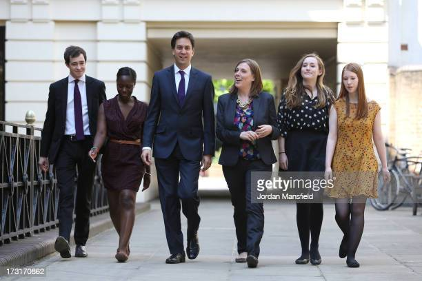 Calum Mulligan Amy Fode Labour Leader Ed Miliband Prospective Parlimentary Candidate for Birmingham and Yardley Jess Phillips Orla Oakey and Helen...