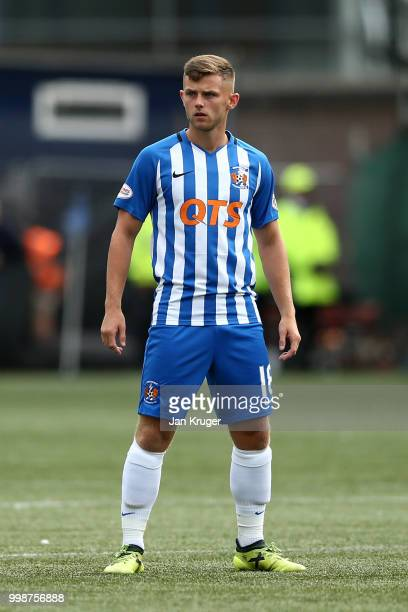 Calum Waters of Kilmarnock FC during the Betfred Scottish League Cup match between Kilmarnock and St Mirren at Rugby Park on July 13 2018 in...